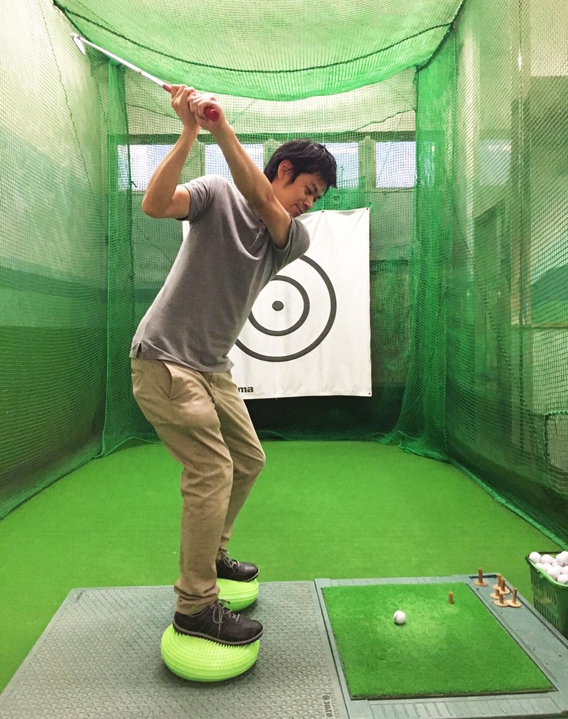傾斜の練習方法【UGMゴルフスクールセントラルフィットネスクラブ市ケ尾店】