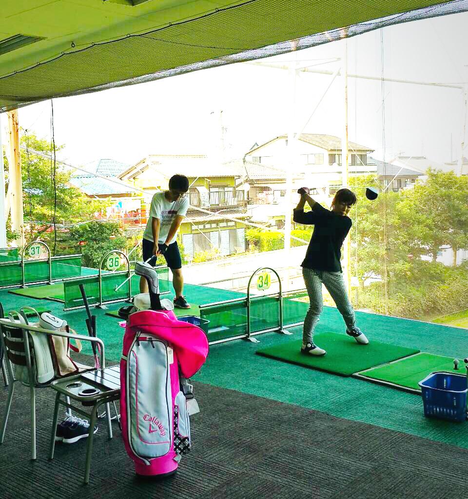 レッスン後の練習風景! 〜田中クラス編~【UGMゴルフスクール/セントラルフィットネスいなす店】