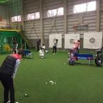 雪の中沢山の生徒さんにレッスンに来て頂きました!!【UGMゴルフスクール JBC名古屋店】