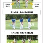 振り幅とスタンス幅:アプローチ編【UGMゴルフスクール/ニッコースポーツ平野店】