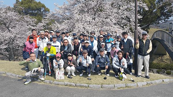 春のゴルフコンペ桜咲く 華麗なゴルフ?2