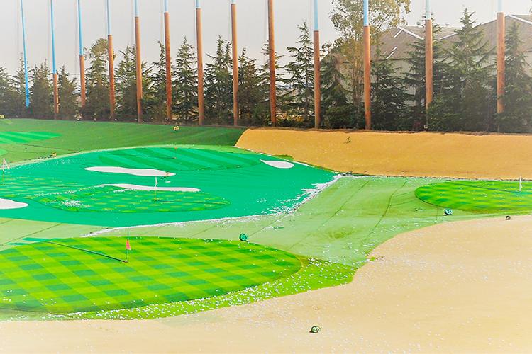 ゴルフ練習場フェアウェイ改修
